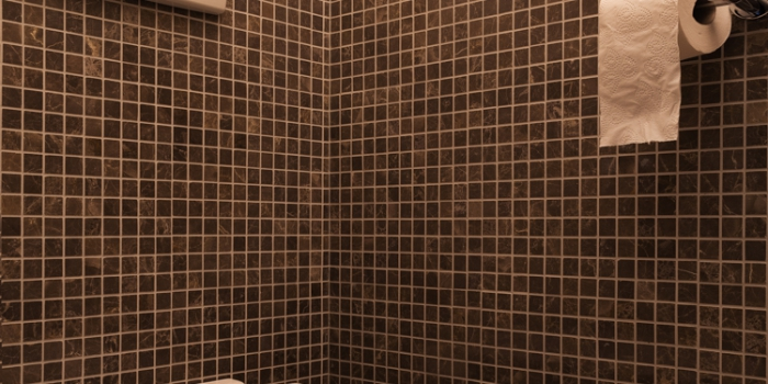 Toilet in mozaiëk